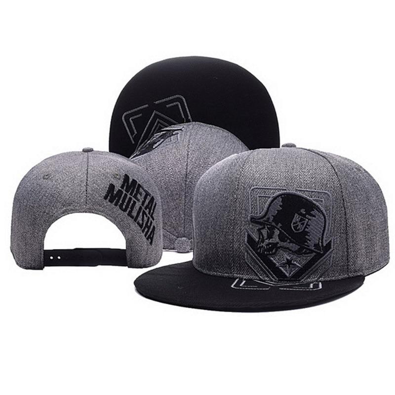 Unisex Letter Embroidery Baseball Cap Women Outdoor Sports Sun Flat Hat Men Fashion Metal Mulisha Hip Hop Snapback Caps CP0123