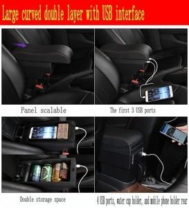 Image 5 - لمسند الذراع Polo box Polo V universal 2009 2018 ملحقات تعديل وحدة التحكم المركزية للسيارة مزدوجة مرفوعة مع USB