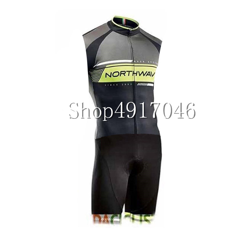 2019 NW Men Triathlon Clothing Sleeveless JerseysElastic Cycling Jersey Tight Suit Bike Cycling Swim Triathlon Skinsuit