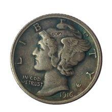 Дата 1916 1916-D 1916-S 1917 1917-D 1917-S 1918 1918-D США ртутные головки DIMES копия монет
