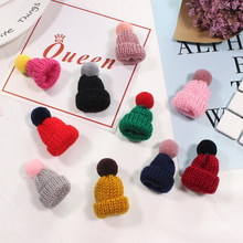 Korean 1PC Hairy Woolen Hat Wool Cap Pins Sweater Brooch Button Pins Denim Coat Badge For Bag Hat Jewelry Gift For Girls Kids(China)