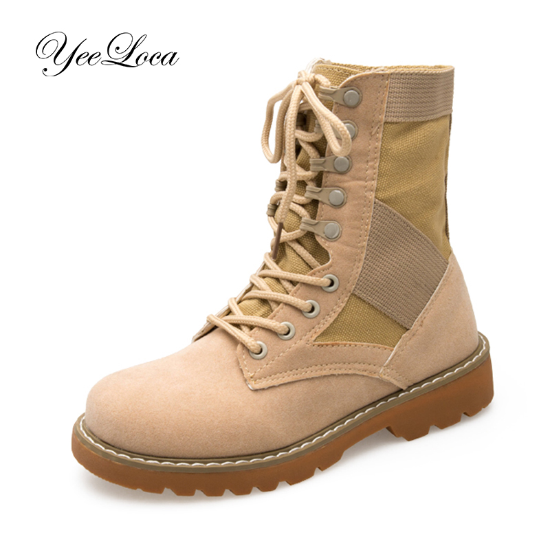 Winter Autumn Genuine Leather Desert Boots Martin For Women Students
