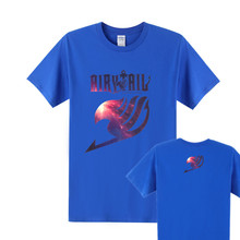New Hot Anime Galaxy Fairy Tail Cotton T Shirt Men Short Sleeve Fairy Tail T-Shirt men t Shirt