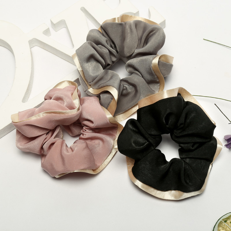 New Arrival Fashion Women Cute Velvet Surround Hair Bands Lady's Hair Scrunchies Girl's Hair Tie  Accessories Ponytail Holder