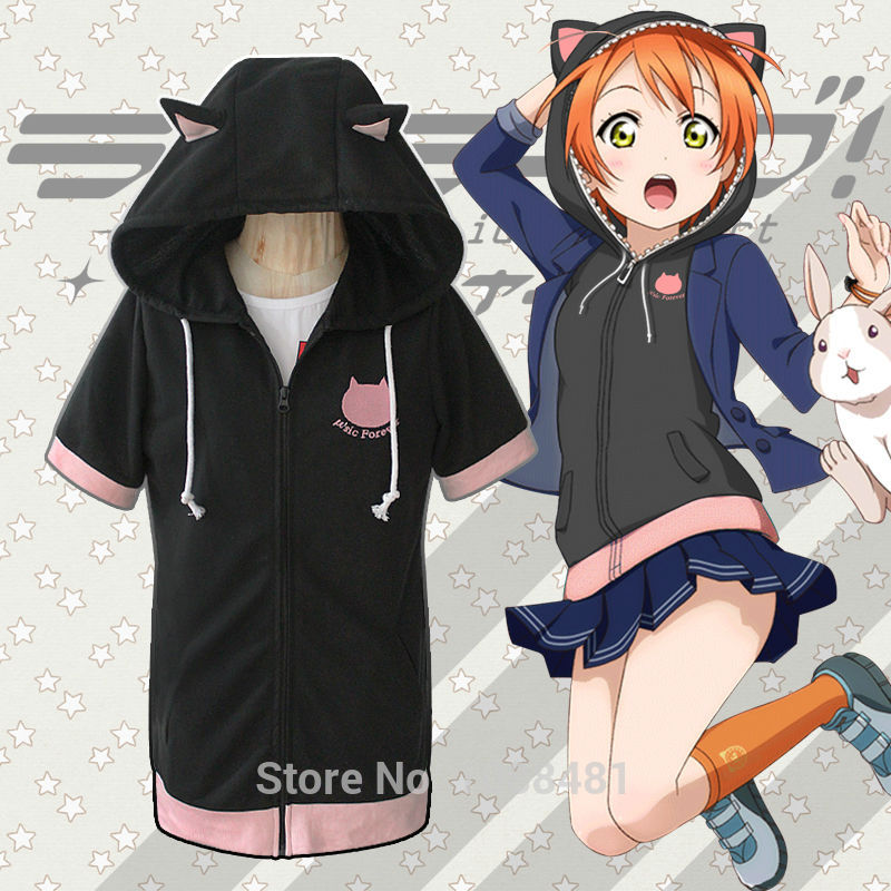 LoveLive!FinalLoveLive6th Rin Hoshizora Hooide Cat ears hoodie