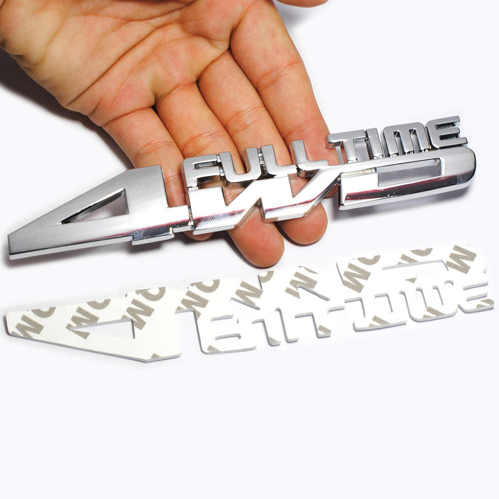 Металлический 3D автомобильный Стайлинг 4WD полная хромированная эмблема бейдж Грузовик Авто Наклейка Gule наклейка Аксессуары для Jeep Toyota Ford VW Subaru