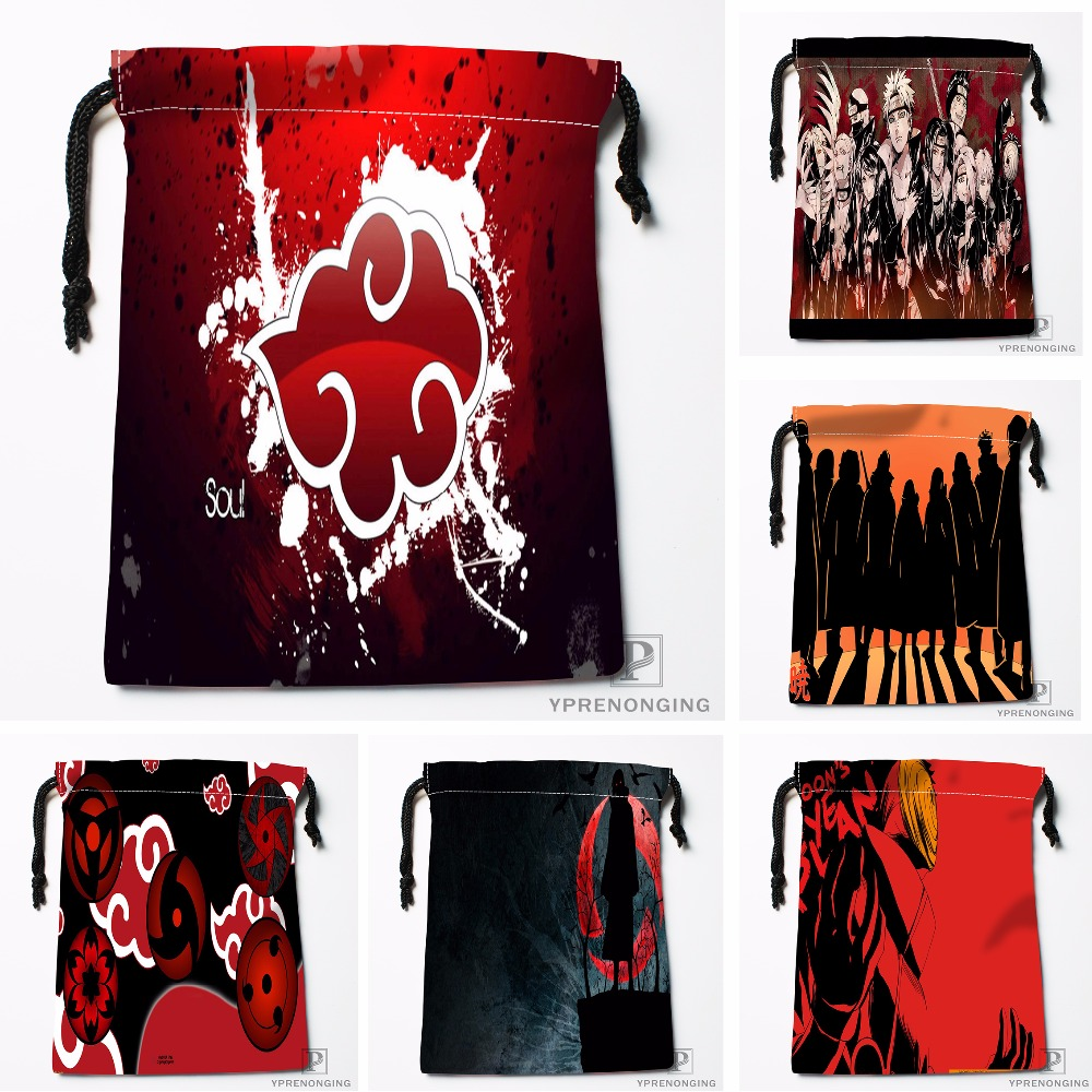 Custom Akatsuki Logo Drawstring Bags Printing Travel Storage Mini Pouch Swim Hiking Toy Bag Size 18x22cm#180412-11-66