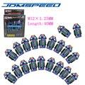 Xpower-20 PCS/set JDM D1 SPEC RACING TUERCAS de las RUEDAS de 40 MM M12X1.25 PARA Nissan Subaru infiniti NEO CHROME ((P: 1.25 L: 40 MM))