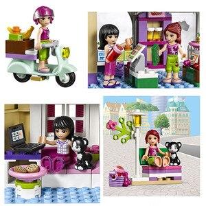 """Image 3 - Игрушка """"сделай сам"""" 10495 Heartlake 41108 для рынка пищевых продуктов, строительные блоки, модели игрушек для детей, совместимые с Legoe Friends, кубики, фигурки"""