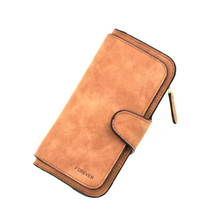 Купить с кэшбэком 2019 New Women Wallets Coin Case Purse For Phone Card Wallet PU Leather Purse Ms Frosted Long Purse Vintage Buckles Small bags