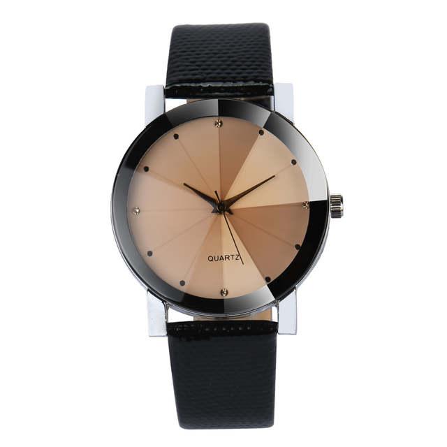 faacac769ce Luxo Quartz Esporte Relógios Das Mulheres Dos Homens de Aço Inoxidável Dial  Pulseira de Couro Relógio
