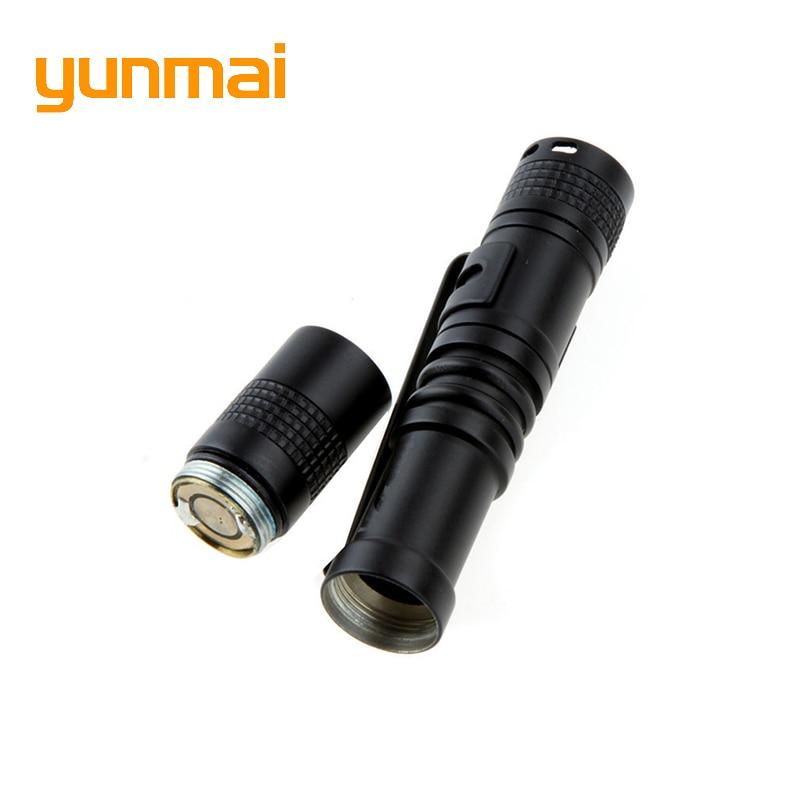 yunmai XPE-Q5 LED Flashlight led torch Portable Mini Pocket light Skid-proof Abrasion Resistance 1 switch mode lighting Camping