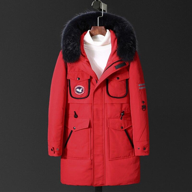 VSD D'hiver Duvet de Canard Veste Plus Réel De Fourrure de Manteau Hommes Vêtements Casual Vestes De Mode Canada Style de Haute Qualité parkas VS8867