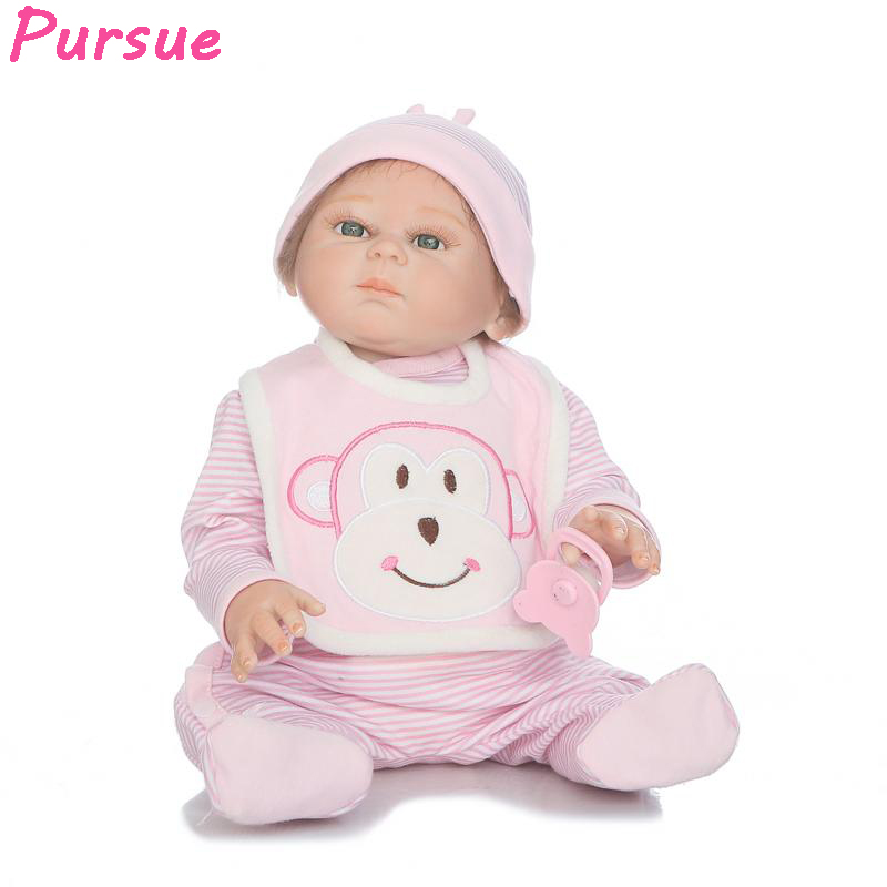 Pursue New 20 inch Full Body Silicone Reborn Dolls Babies Silicone Baby American Ggirl BJD Doll Toys for Kids bebe reborn menina pursue full body silicone reborn dolls baby reborn with silicone body dolls reborn whole silicone toys for girls reborn babies
