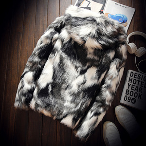 Image 2 - Winter Faux Fur Thick Mens Jackets & coats Fashion Men and Women Couples Warm and Comfortable Clothing Slim Gray Men Coat S 3XL