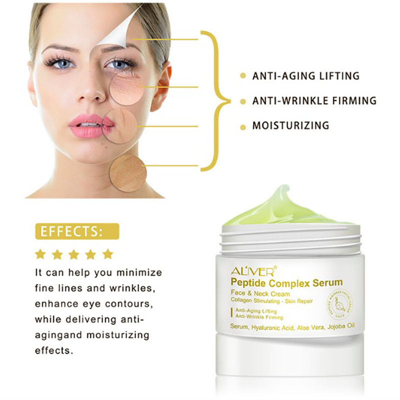 Peptide Anti Wrinkle Facial Cream Anti Aging Skin Whitening Lifting Firming Acne Treatment Hyaluronic Acid Day Cream