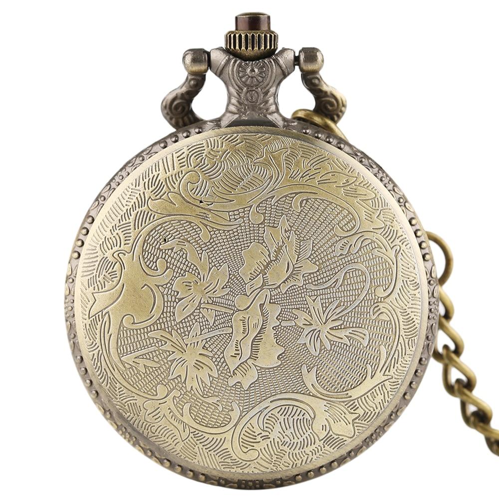 Vintage SAO Sword Art Online Quartz Pocket Watch Necklace Pendant for Kids Men Women Analog Chain Gifts Bronze Fob Clock relogio 2018 (2)