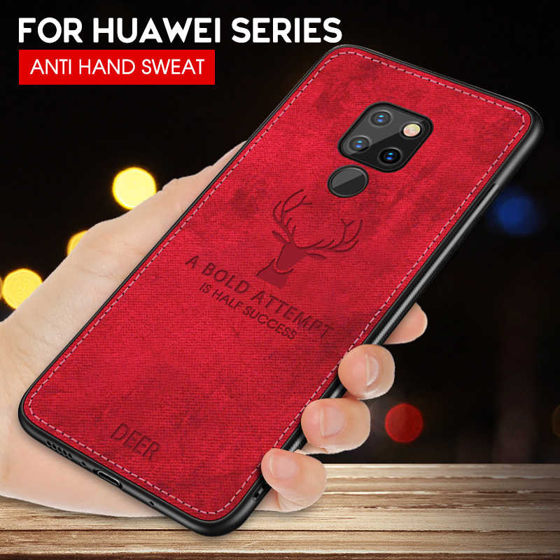 Cloth Deer Soft Case For Huawei P20 P30 Lite P10 Pro Mate 20 10 Lite P Smart Plus Y7 Prime 2019 Honor 8X Max 10 Phone Cover Case