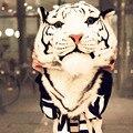 Estilo de Corea GD gran cabeza Del Tigre de La Cabeza del león del tigre y del león un bolso del morral del estudiante