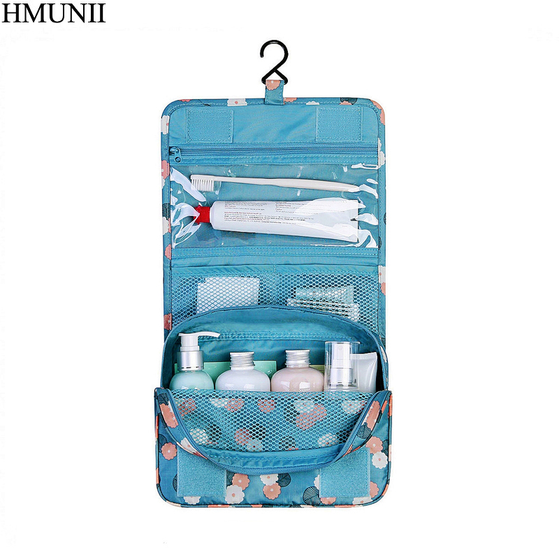 HMUNII Brand Travel set makeup bag waterproof portable man toiletry bag women cosmetic organizer pouch Hanging wash bags B1-18