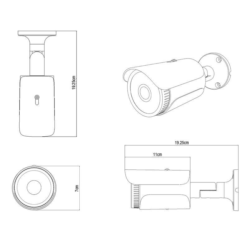 BFMore H.265 5.0MP WIFI caméra IP sécurité extérieure étanche Surveillance CCTV caméra réseau IR Vision nocturne Onvif 2.1 - 5