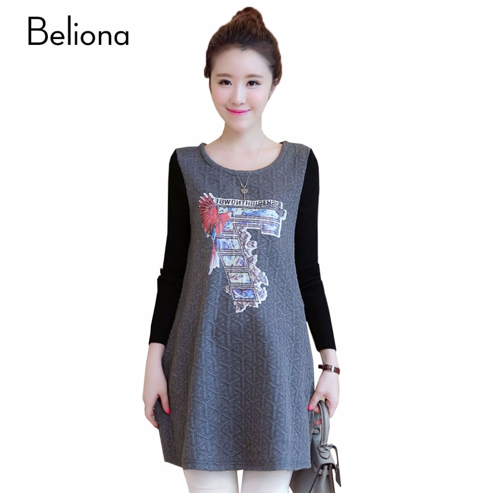 Online buy wholesale beautiful maternity clothes from china beautiful letters printing maternity dresses fall winter clothes for pregnant women plus size loose casual pregnancy ombrellifo Choice Image