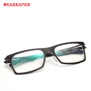 Image 1 - WEARKAPER Glasses Frames IC Germany Unique No screw Design Eyeglasses Frames Ultra Light Ultra thin Men Myopia Spectacle Frame