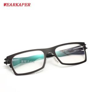 Image 1 - WEARKAPER กรอบแว่นตา IC เยอรมนีที่ไม่ซ้ำกันไม่มีสกรูออกแบบกรอบแว่นตา Ultra Light Ultra บางสายตาสั้นกรอบแว่นตา