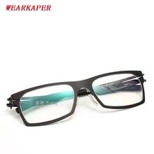 WEARKAPER משקפיים מסגרות IC גרמניה ייחודי אין בורג עיצוב משקפיים מסגרות קל במיוחד דק במיוחד גברים קוצר ראיה מסגרת