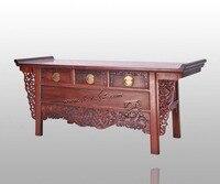 Гостиная ТВ стенд палисандр дома мебель из массива дерева тумбочки Китай антикварные деревянные счетчик Redwood шкафчики классическая