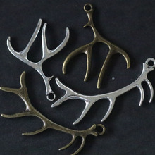 Mixed antlers Pendant Charms For Jewelry Making DIY Handmade Fashion Jewelry Accessories Vintage Antique Silver