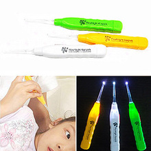 1 pc Ear Wax Remove LED Flashlight EarPick Cleaner Tool Curette Electric ear cleaner cleaning device dig ear massage saq
