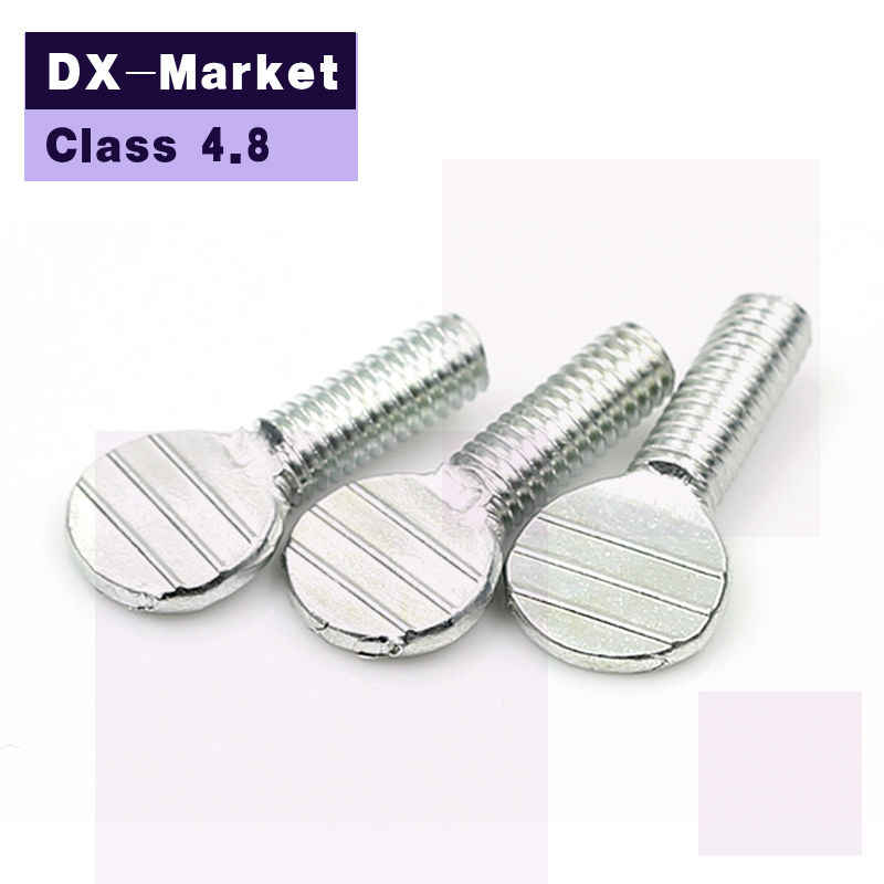 m5 m6 m8 m10 , Class 4.8 carbon steel zinc plated racket thumb screw , Metal Thumb regulating bolt