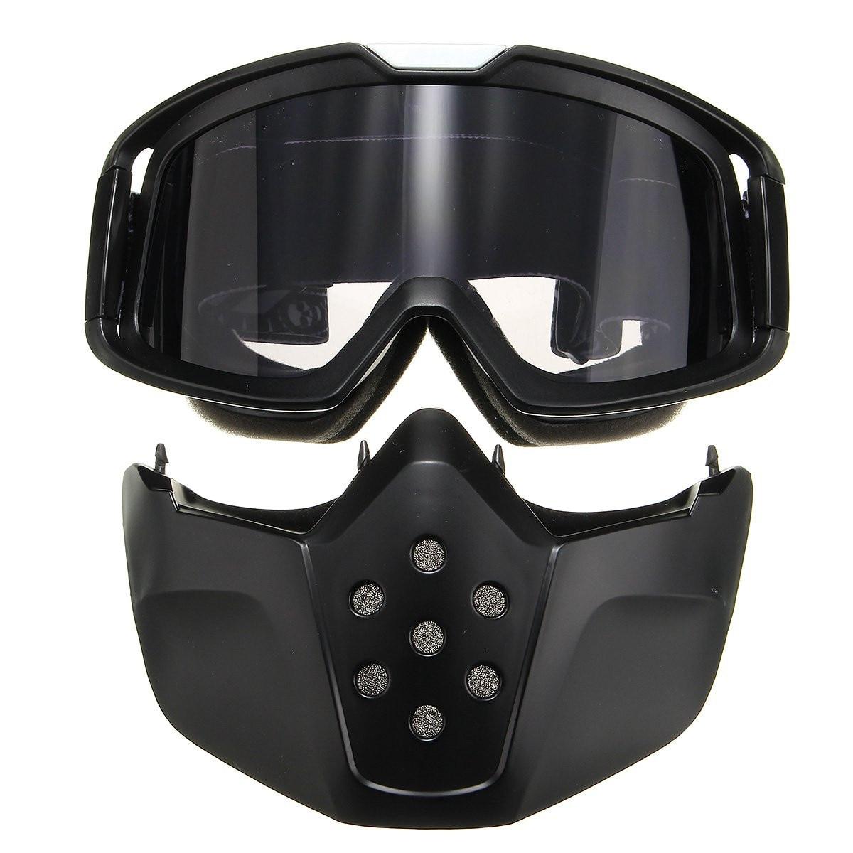Riding Detachable Modular Face Mask font b Shield b font Goggles For Motorcycle font b Helmet