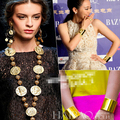 Mississippi head image coins gold chain round metal medals long necklace catwalk brand pendant jwelry