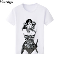Nouvelle Arrivée Comic Film de Super Héros Wonder Woman Imprimé T-Shirt 2017 D'été Femmes T-shirt Dame Manches Courtes Blanc Tee Tops