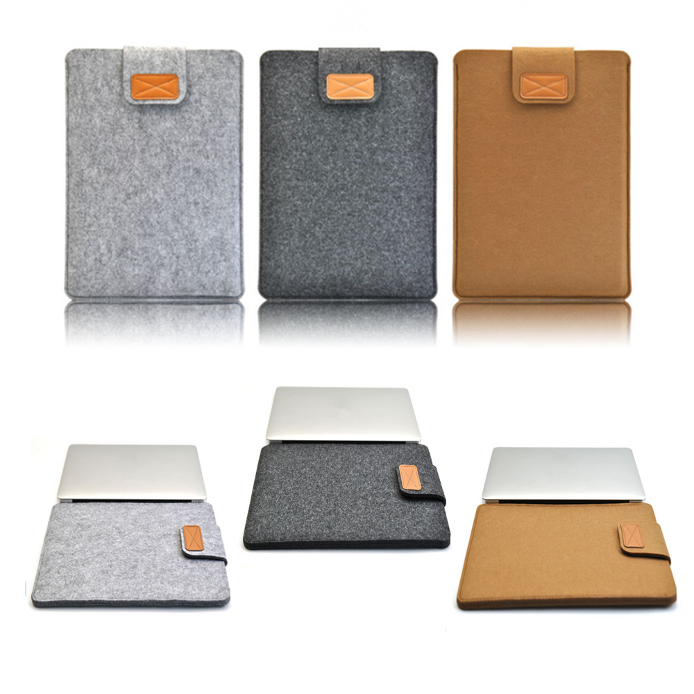 2017 Hasp Brand New Felt Business Bag Laptop Soft New Cover Case For Macbook Air 11.6 Air 13.3 Pro 15.4 Noble Computer Briefcase