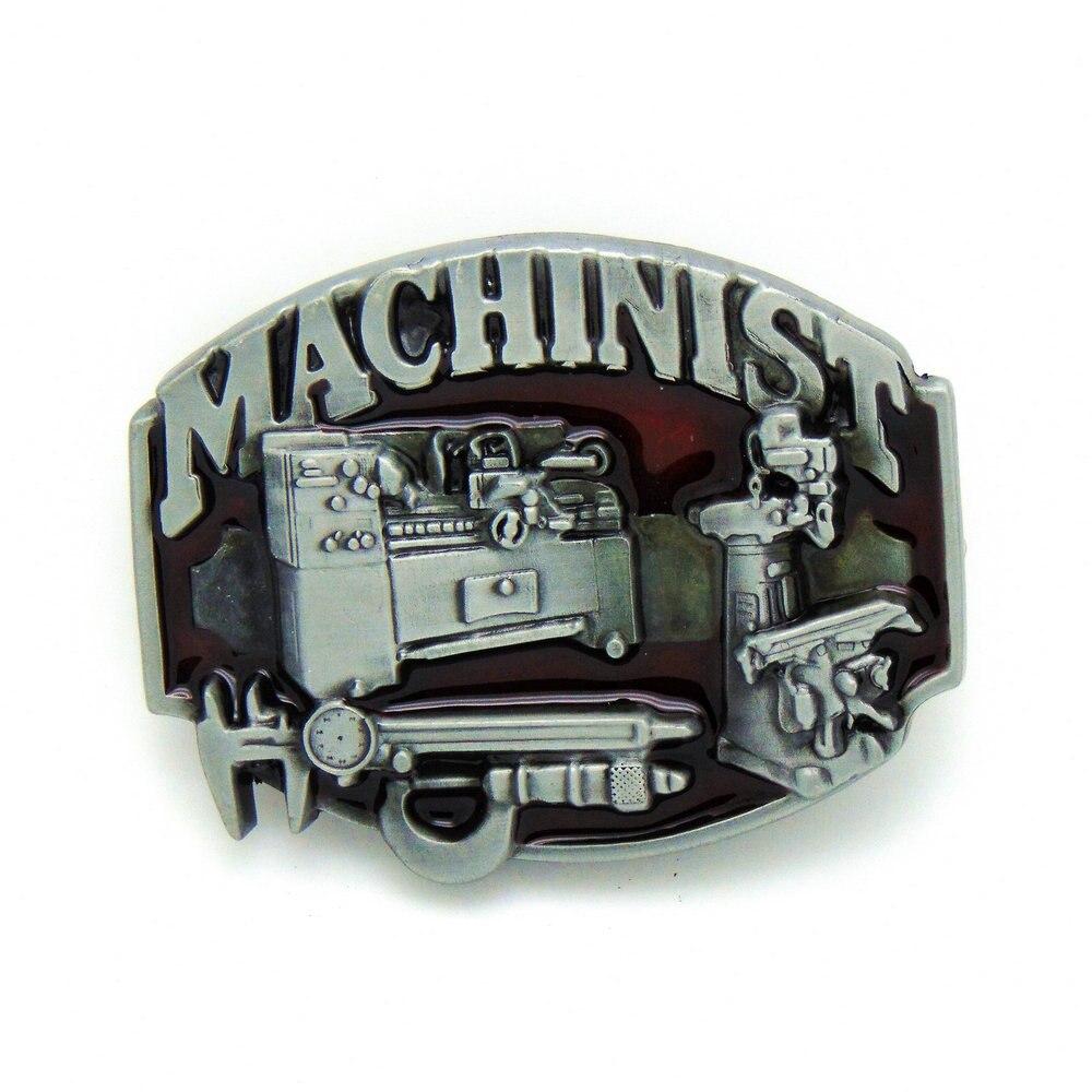 Cowboy MACHINIST Belt Buckle Zinc Alloy Wear-resistant Fashion Belt Buckle For 4.0 Belt