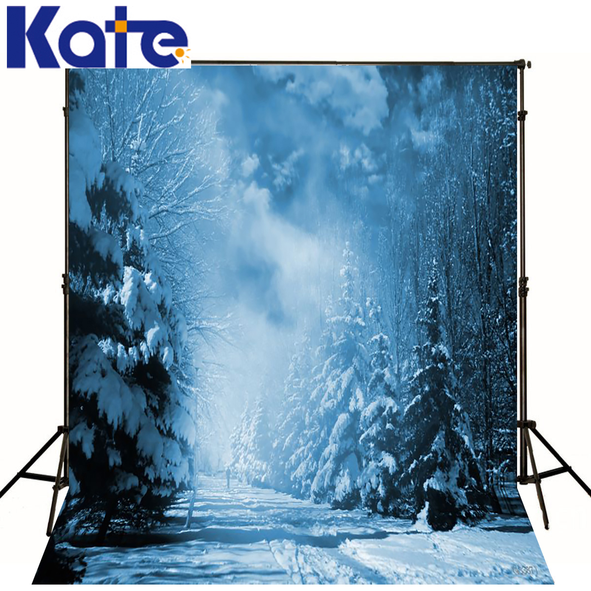 Kate Winter Background Ice Snow World Photography Backdrops Scenery Night Forest Backdrops For Photo Studio  kate photography backdrop winter snow tree castle scenery photography background lighting spot dream backdrops studio