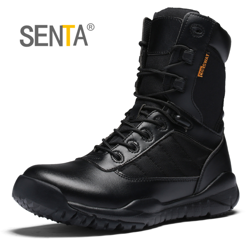 Military Tactical Combat Outdoor Sport Army Men Boots Desert Botas Spring autumn Shoes Travel Leather High Boots high quality spring summer outdoor boots male combat boots desert boots tactical thigh high boots hiking climbing shoes