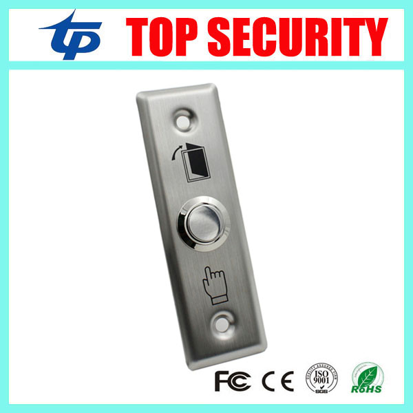 Free shipping good quality metal stainless steel 12V exit button door release exit switch for access control system zndiy bry bhr 202 stainless steel ir sensing door access control system switch silver
