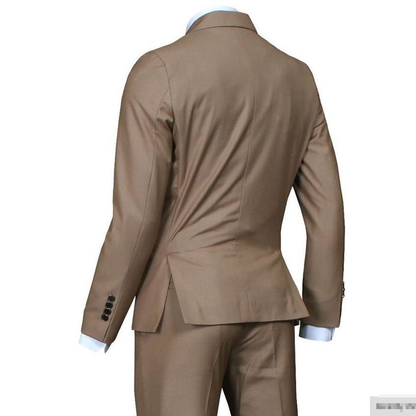 Formel Costume Revers Chaude Robe Cran Costumes Beige Vente Tux Occasionveste Pantalon Hommes Casual Custom Made De Yfgv7b6y