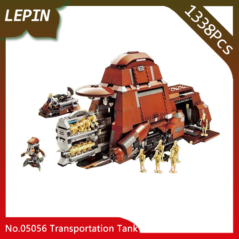 Lepin 05069 The Federation Transportation Tank Set MTT Children Star War Series 1338pcs Building Blocks Bricks legoed Toys 7662 new lepin 16009 1151pcs queen anne s revenge pirates of the caribbean building blocks set compatible legoed with 4195 children