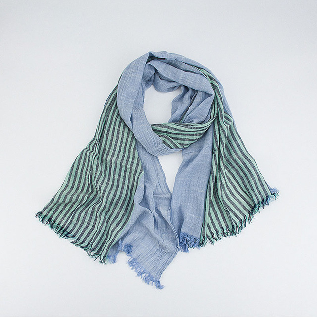 Half Striped Spring Scarf | Lightweight Scarves