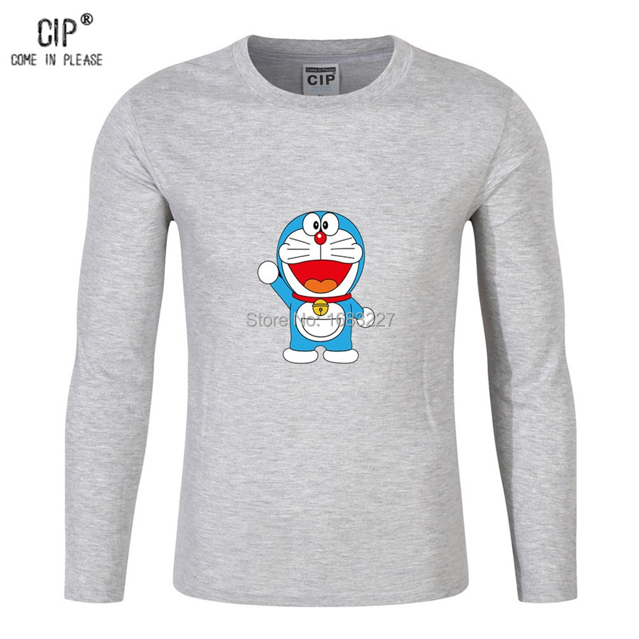 line Shop CIP Brand Doraemon Long Sleeve Children T Shirt Cute