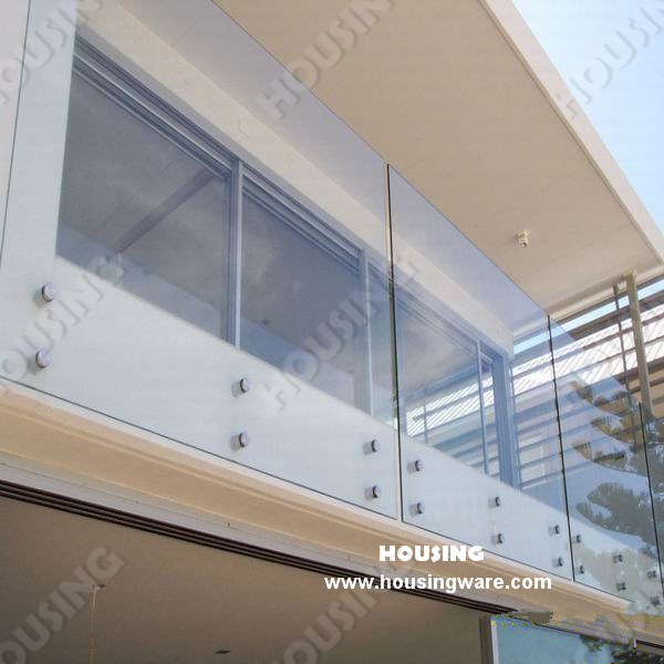 Fashinable And Strong Glass Railing Glass Balcony Railing Design In