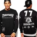 Thrasher Skateboards New Arrival Fashion Sweatshirts Trasher Women Men Hoodies Hip Hop thrasher brooklyn 77 Streetwear Pullover