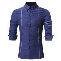 Brand 2017 Men Shirt High Quality Dress Shirt Long Sleeve Fit Camisa Masculina Casual Male Hawaiian