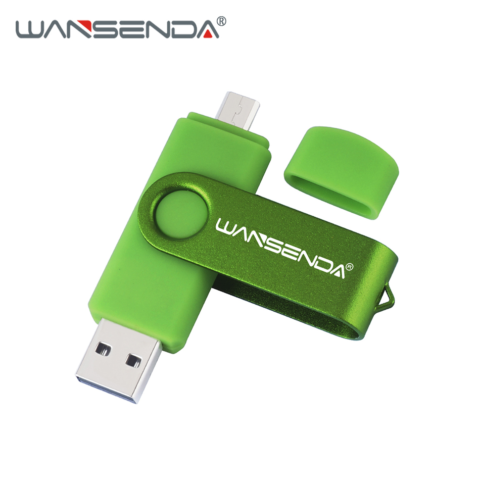 Original Wansenda S100 OTG USB Flash Drive 256GB 128GB 64GB 32GB 16GB 8GB 4GB Pen Drive USB 2.0 Pendrive For Android/PC