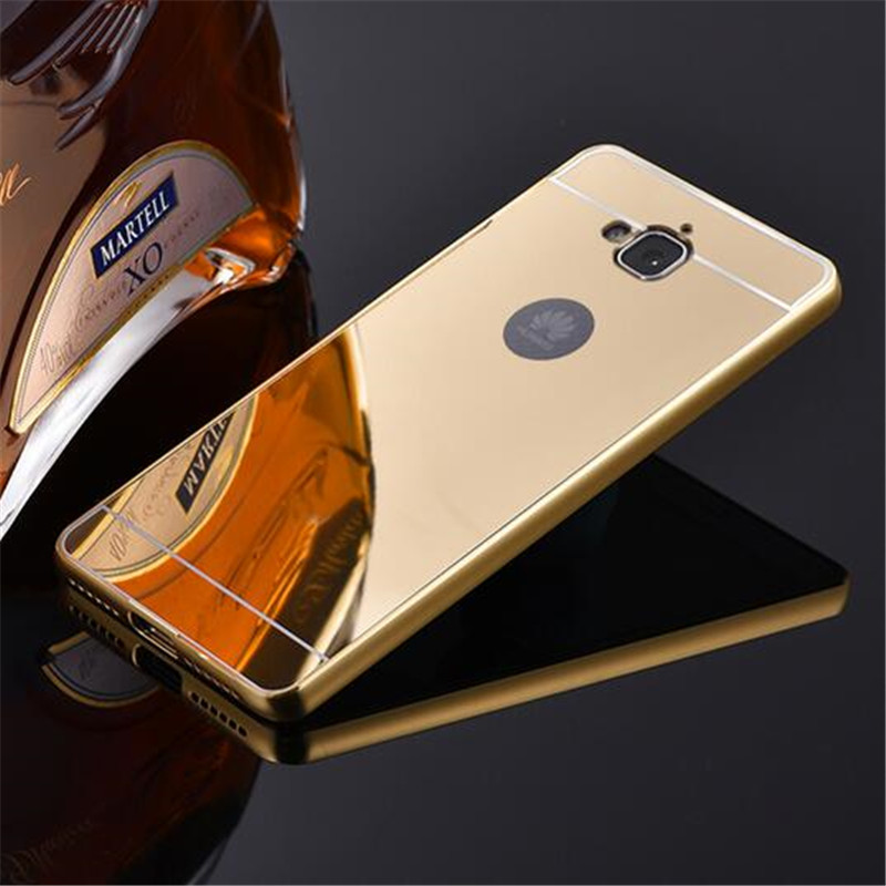 promo code c21f6 8893e US $2.76 15% OFF|Luxury Rose Gold Mirror Case For Huawei Y6 Pro Case Cover  For Huawei Honor 4C Pro 4CPRO Shell Back Cover For Huawei Enjoy 5-in ...